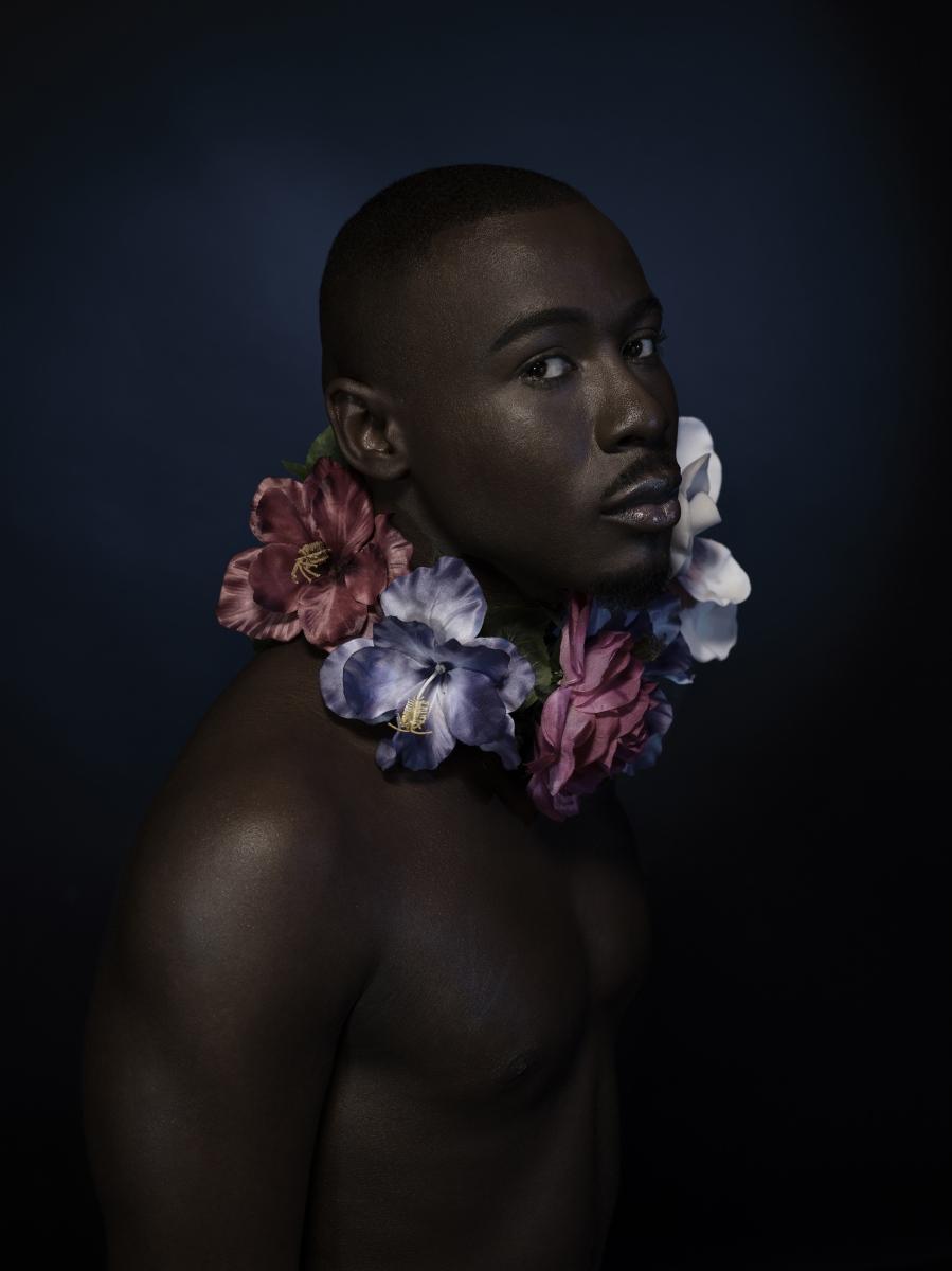 Daniel with flowers 2
